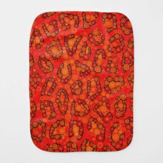 Fluorescerande orange röd Cheetahabstrakt Bebistrasa