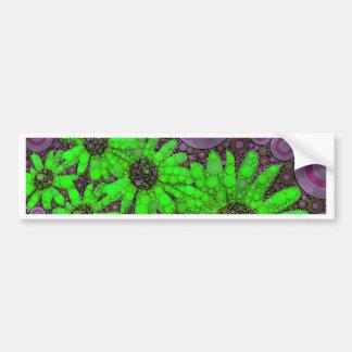 Fluorescerande solrosor för härlig lavendel bildekal