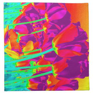 fluorescerande tulpan tygservett