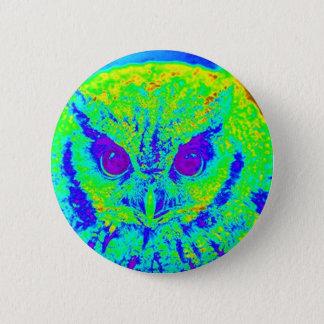 fluorescerande uggla standard knapp rund 5.7 cm