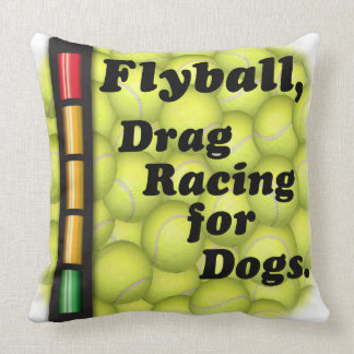 Flyball är friktionstävla för hundar! kudde