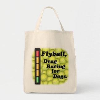 Flyball är friktionstävla för hundar, livsmedeltot tygkasse