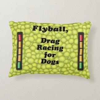 Flyball är friktionstävla för hundar! prydnadskudde