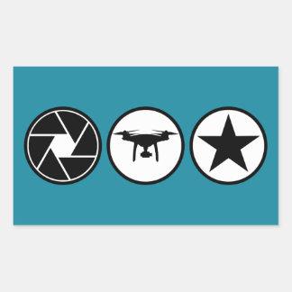 Flyg- fantom USA för fotograf DJI Rektangulärt Klistermärke
