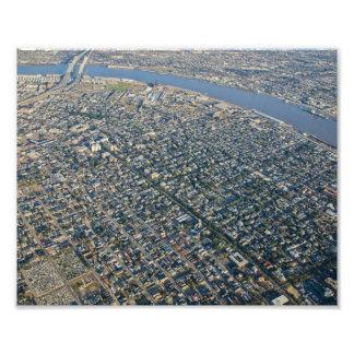 Flyg- New Orleans trädgårds- område Fototryck