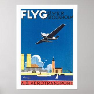Flyg över Stockholm Poster