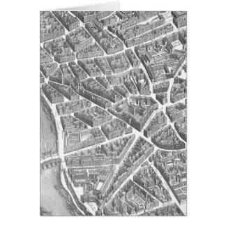 Flyg- Paris för vintage karta OBS Kort