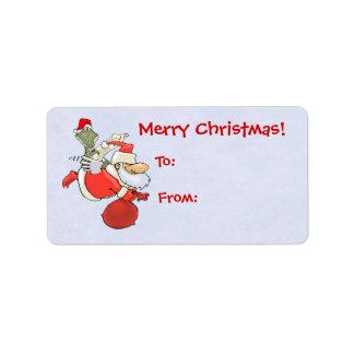 Flyg Santa med alligatorn Adressetikett