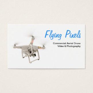 Flyg- tjänste- surrvideo & fotografi visitkort
