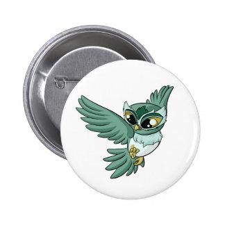Flyg- uggla! standard knapp rund 5.7 cm