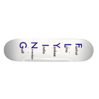 FLYGA den phonetic skateboarden Skateboard Bräda 19,5 Cm