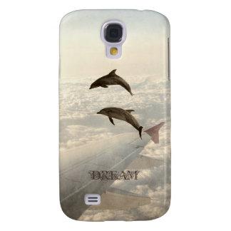 Flyga med delfiner galaxy s4 fodral