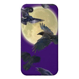 Flyga Ravens & fodral för månedjurliviPhone 4 iPhone 4 Skydd