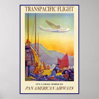 Flygbolag för flyg för vintage affischtryck poster