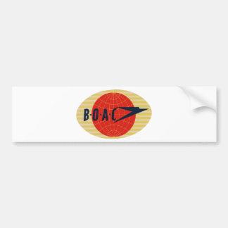 Flygbolaglogotyp för vintage BOAC Bildekal