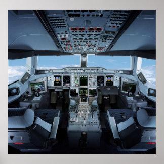 Flygbuss A380 - Cockpit HD Affischer