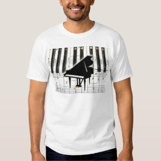 Flygeltangentbord & noterar tee shirts