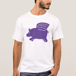 Flyggris - lila tee shirt