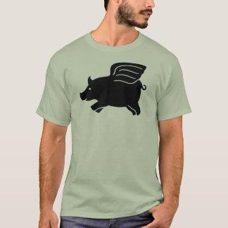 Flyggris - svart tee shirt