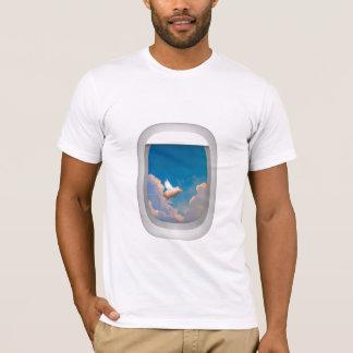 flyggris till och med flygplanfönsterskjortan t shirts