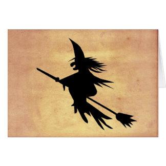 Flyghäxan skuggar urblektt papper | Halloween OBS Kort
