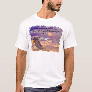 Flygörn & Rumis dikt på uppehälle Tee Shirts