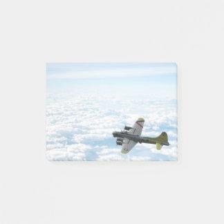 Flygplan för bombplan för fästning WWII för flyg Post-it Block
