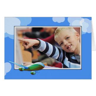 Flygplan för grönt för adoption för hälsningskort