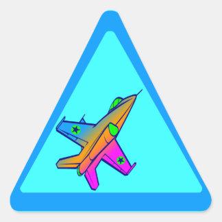 Flygplan för kämpe för jet för Corey tiger80-tal Triangle Stickers