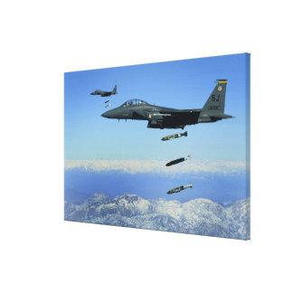 Flygplan för örn för strejka för US-flygvapen Canvastryck
