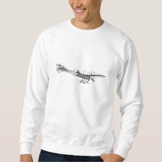 Flygplan för stötta för vintagepropellerflygplan långärmad tröja
