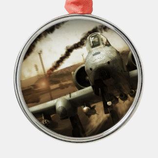 Flygplan för Thunderbolt A-10 Julgransprydnad Metall