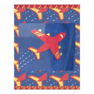 Flygplanflygplanflyg reser picknickhelgdagar brevhuvud