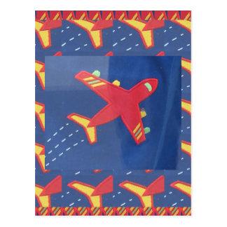 Flygplanflygplanflyg reser picknickhelgdagar vykort
