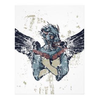 flygzombie med vingar brevhuvud