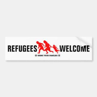 Flyktingvälkomnandet kommer med dina familjer bildekal