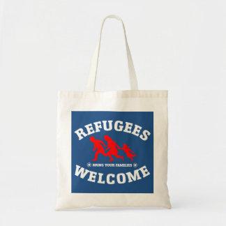 Flyktingvälkomnandet kommer med dina familjer budget tygkasse