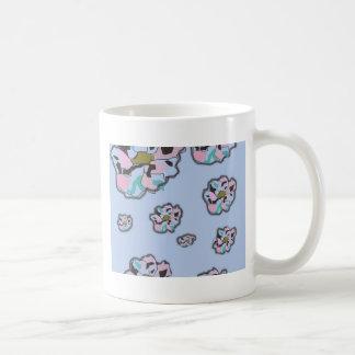 Flyta blommamuggen kaffemugg