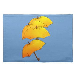 Flyta det gula paraplyet bordstablett