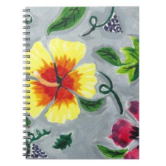 Flyta hibiskus anteckningsbok
