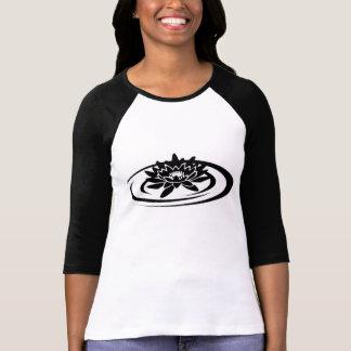 Flyta lotusblommakvinna T-tröja för sleeve för Tee Shirt