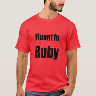 Flytande i rubyen - röd programmerareskjorta t-shirt