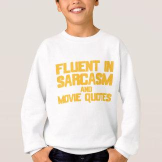Flytande i Sarcasm och film citerar (gult) T-shirts