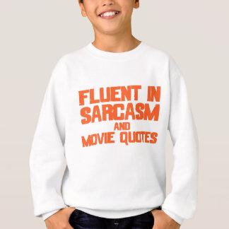 Flytande i sarcasm- och filmcitationstecken t shirts