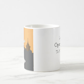 Flytande språkmugg kaffemugg