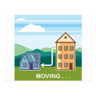 Flytta sig från lägenhet in i huset vykort