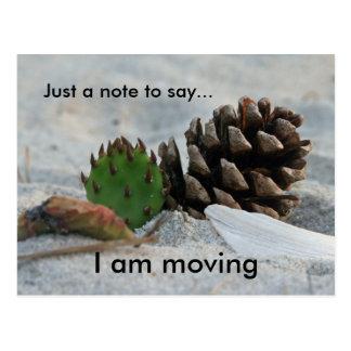 flytta sig precis en notera till… vykort