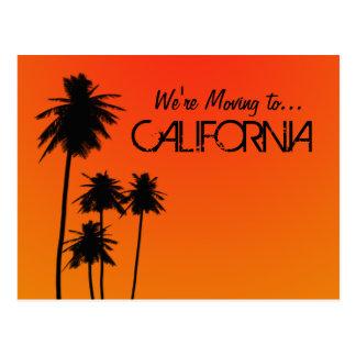 Flytta sig till den Kalifornien vykortet Vykort