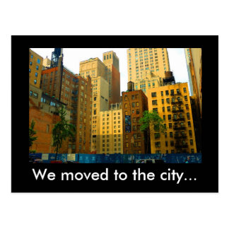 Flytta sig till staden! vykort