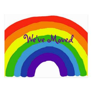 Flyttan för regnbåge BH märker vykort